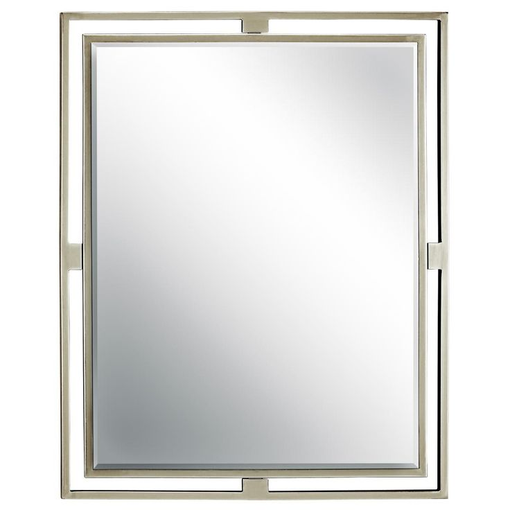 "Double Tube Frame Mirror, Shades of Light, BN or Bronze, 30""H x 24""W (349.00)"