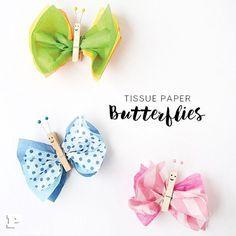 Så fina fjärilar hos @pysselbolaget gjorda av silkespapper och klädnypor Bild: @pysselbolaget #pysslamedkidsen #pysslamedbarn #pyssel #diy #diykids #barnpyssel #pysselinspiration #viärallapysselmorsor #kreasiwinspo #allakanpyssla @inspoforskolan