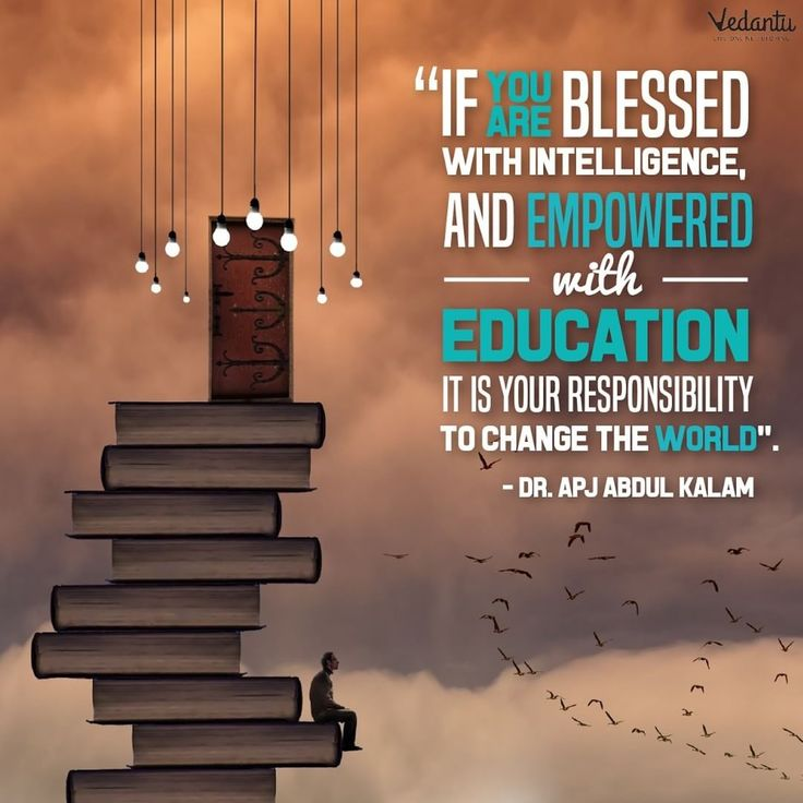 Begin your week with wise words from a very inspiring man. #mondaymotivation #APJAbdulKalam #education #onlinelearning #vedantu #intelligence #thoughtoftheday #responsibility