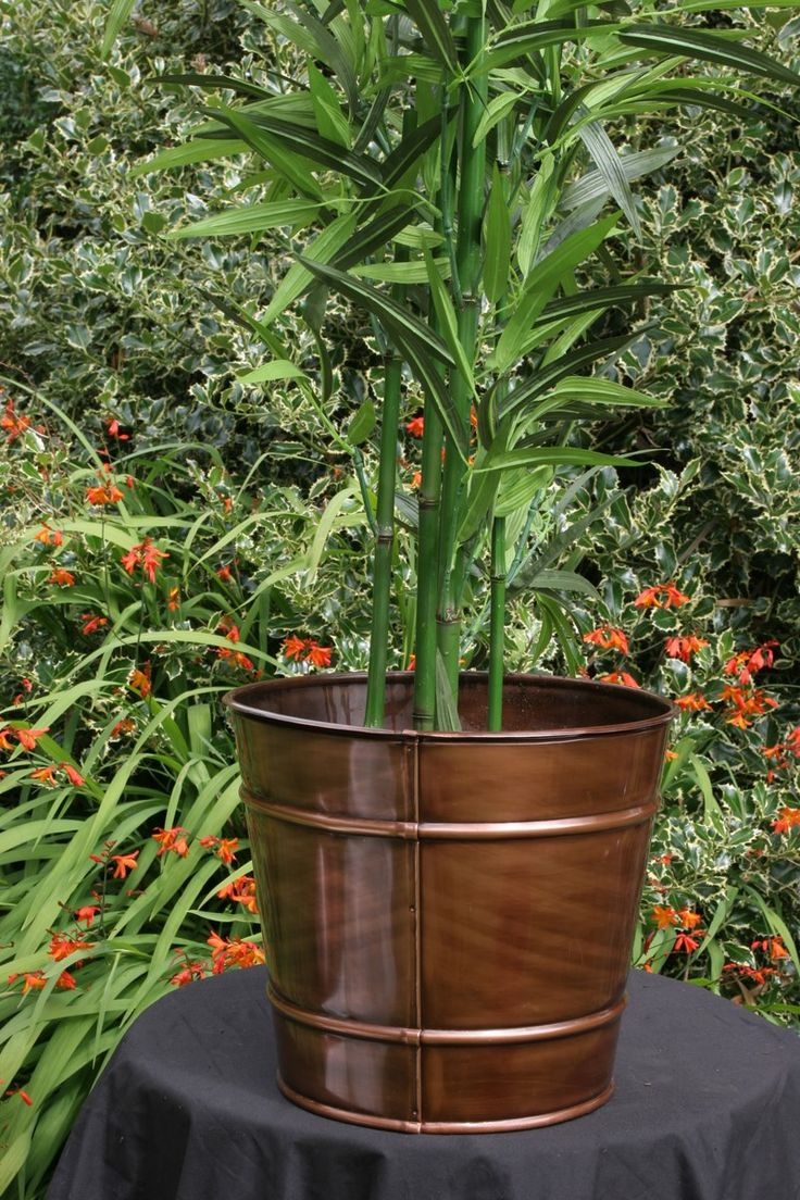 Bronze copper planter or to store firewood indoors