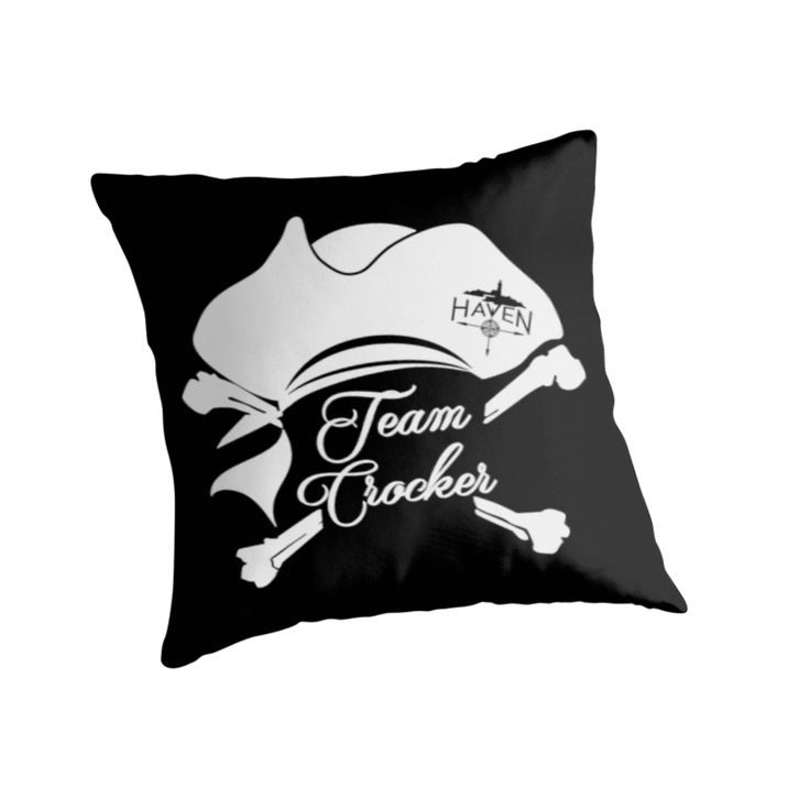 Haven Syfy Inspired Pillow |  Haven Team Crocker White Pirate Hat Logo