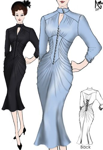 1930's Dress designed by Amber Middaugh.--- Save 37% at ChicStar.com --Coupon: AMBER37