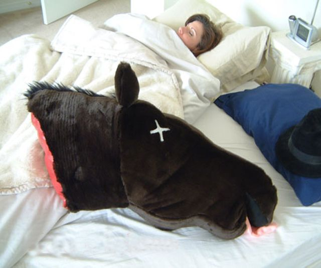 Horse Head Pillow Revenge Christmas Presents And My Sister