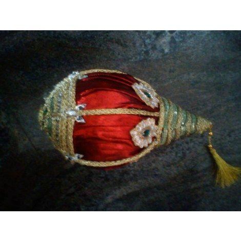 Decorative coconut (Nariyal) with kundans - Online Shopping for Wedding by Riha-Wedding-Riha