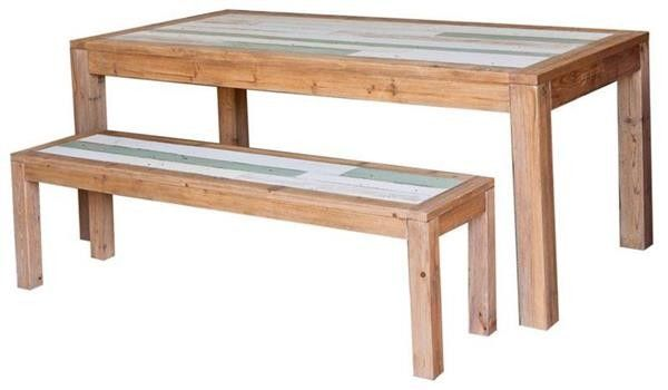 Recycled Timber Table and Bench Seats - 150cm
