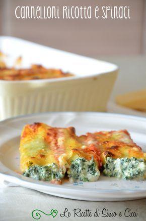 Cannelloni ricotta e spinaci-Le Ricette di Simo e Cicci
