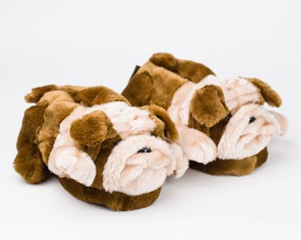 Bulldog Slippers: Cute and cozy bulldog slippers! Makes a great gift.