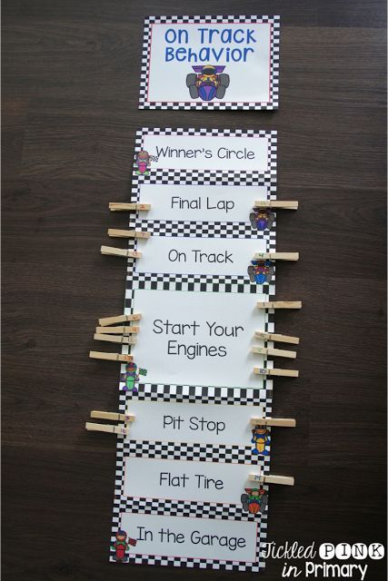 This racing classroom theme behavior clip chart is great to increase positive behavior. It also includes a parent letter, recording sheet, & outstanding stickers for when they have a great day!