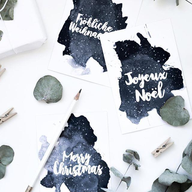 Free Christmas Cards Printable ✨🌨 ... Und schon haben wir den ersten Dezember 😱 Bevor es morgen mit dem schereleimpapier Adventskalender los geht, gibt es heute erstmal das neue eMagazine für den Dezember. Wer es bereits abonniert hat, findet es heute im eMail Postfach, alle anderen können sich auf meiner Website dafür anmelden ✉️ Im neuen Mag findet ihr als kleines Extra diesmal meine Aquarell Weihnachtskarten aus Version zum Ausdrucken & Verschenken, außerdem stelle ich euch eine meiner…