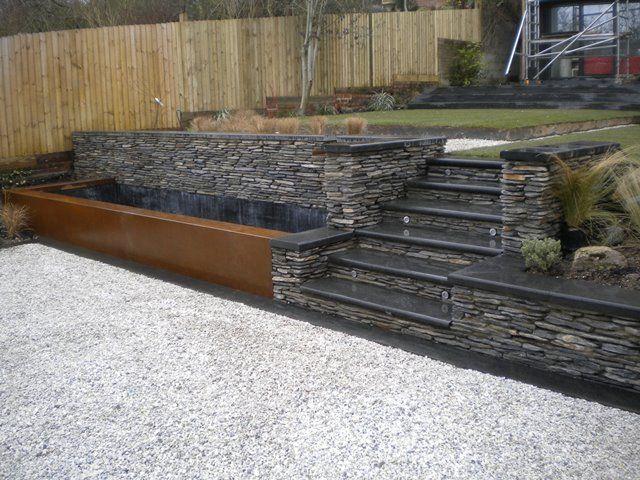 Yorkshire Water Features::CONTEMPORARY::Corten Steel Rills
