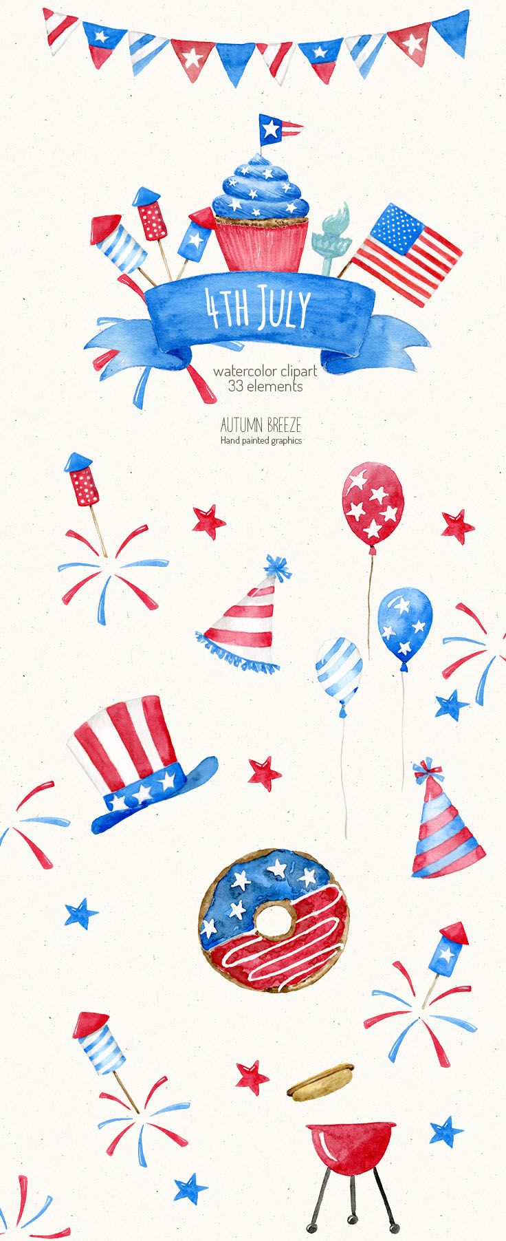 4th July Clipart Independence Day Clipart Watercolor Fourth Etsy American Flag Drawing 4th Of July Wallpaper 4th Of July Clipart