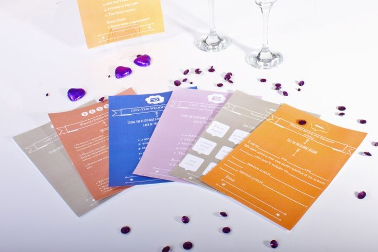 Wedding Table Games  Love some of these! Definitely going to put them on the tables