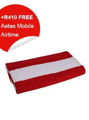Beach Towel (Red & White Stripes)