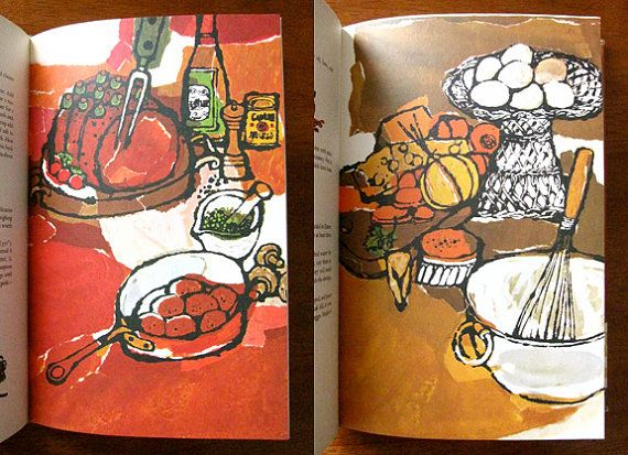 """""""Adventures in Food"""" Cookbook,  Illustrated by Alice Harth,   First edition…"""