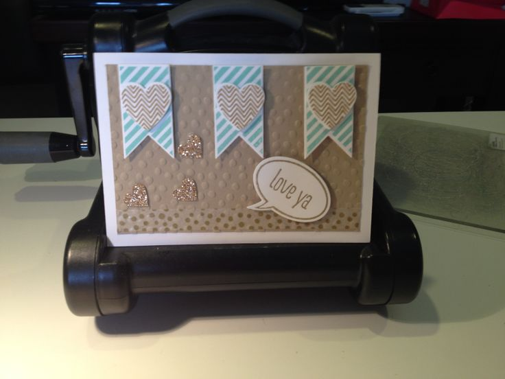 """Stampin' Up """"Just Sayin'"""" """"Hearts A Flutter"""" Stamp Sets, Could be used for a Valentines, Anniversary or Birthday card."""