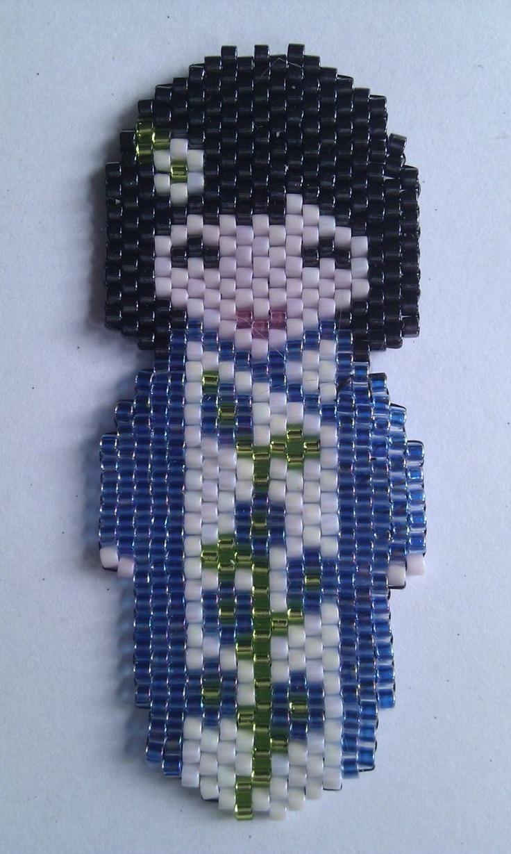 Kokeshi en azul