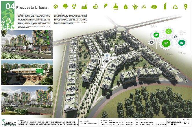 Modelo de implantación urbana.  700 soluciones de vivienda.
