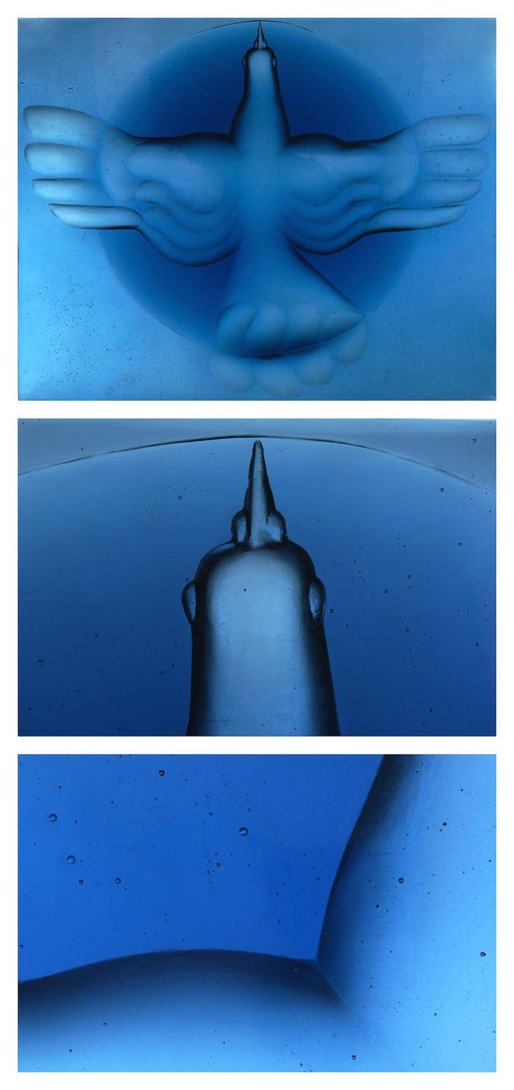 Glass #sculpture by Stanislav Libenský and Jaroslava Brychtová, 95x100cm, Czech.  #sculpture  #libenskybrychtova