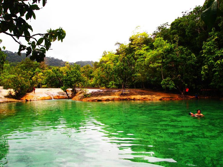 June 2012 - Emerald Pool at Krabi Thailand. A natural pool out in the nature, hidden within the forest. 1st time swimming with nature surrounding me. And I got hit real hard by a stone under the pool. Pain... Lol!