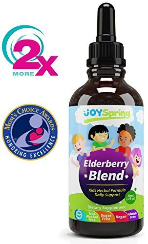 Organic Elderberry Syrup for Kids - Best Natural Kids Cold Medicine Pure Elderberry Blend for Sickness Relief 3x Stronger Vegan & Sugar-Free Formula to Strengthen Immune System (2 oz)