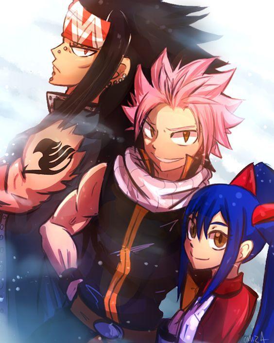 Fairy Tail's three dragon slayers