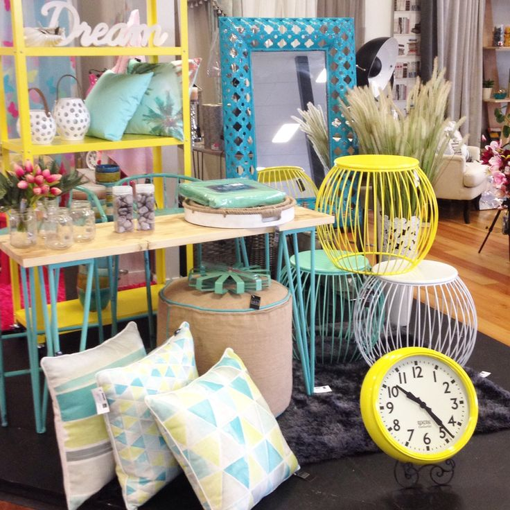 New furniture with pops of colour x