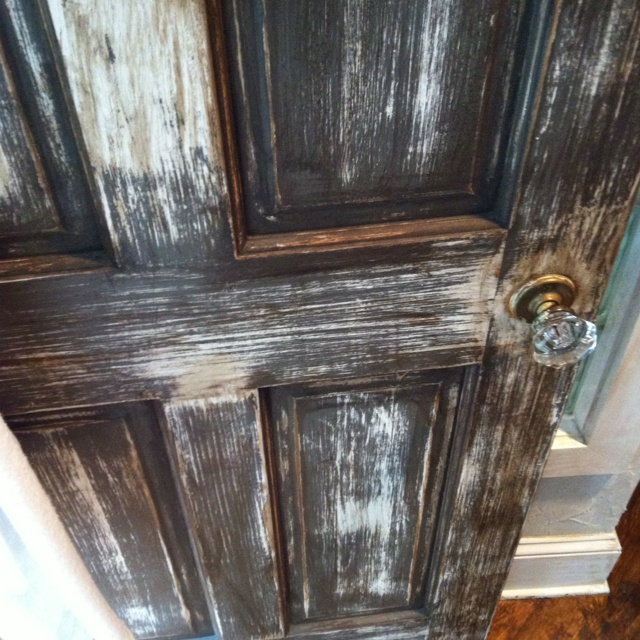Distressed doors. Throughout house.