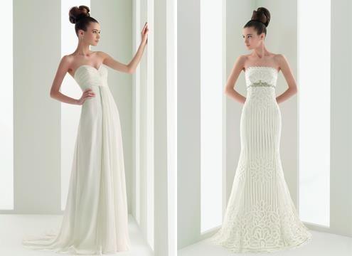 Простое свадебное платье русалка