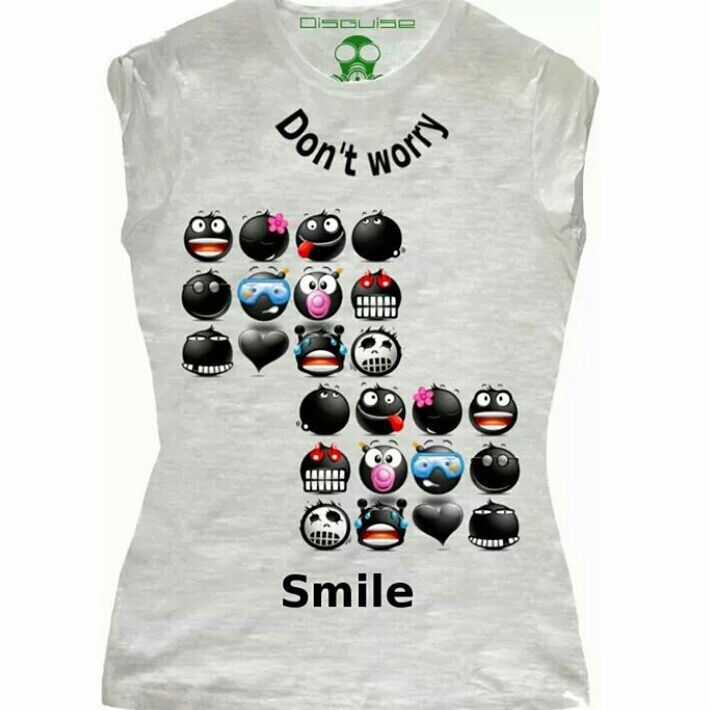 Black emoticon shirt