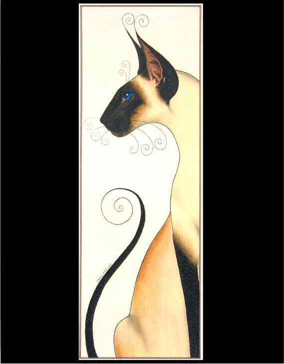 SEALPOINT SIAMESE CAT Limited Edition print  by by SuzannesGallery, $11.00
