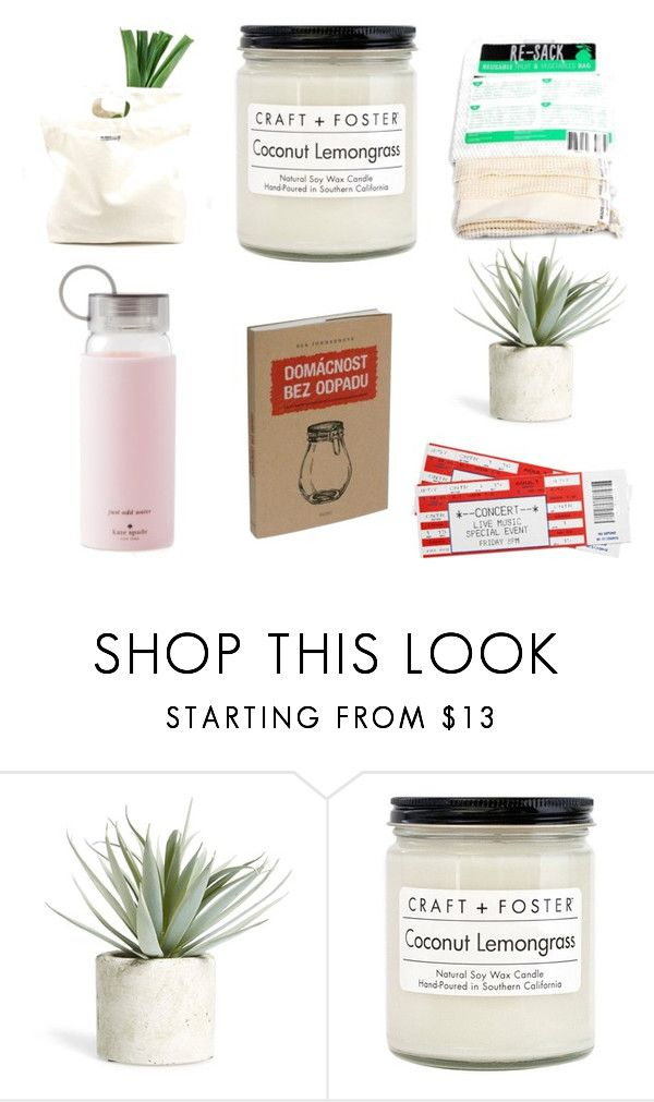 """""""Zero waste gifts"""" by anett18 on Polyvore featuring interior, interiors, interior design, home, home decor, interior decorating, Allstate Floral, Craft + Foster, Kate Spade and BEA"""