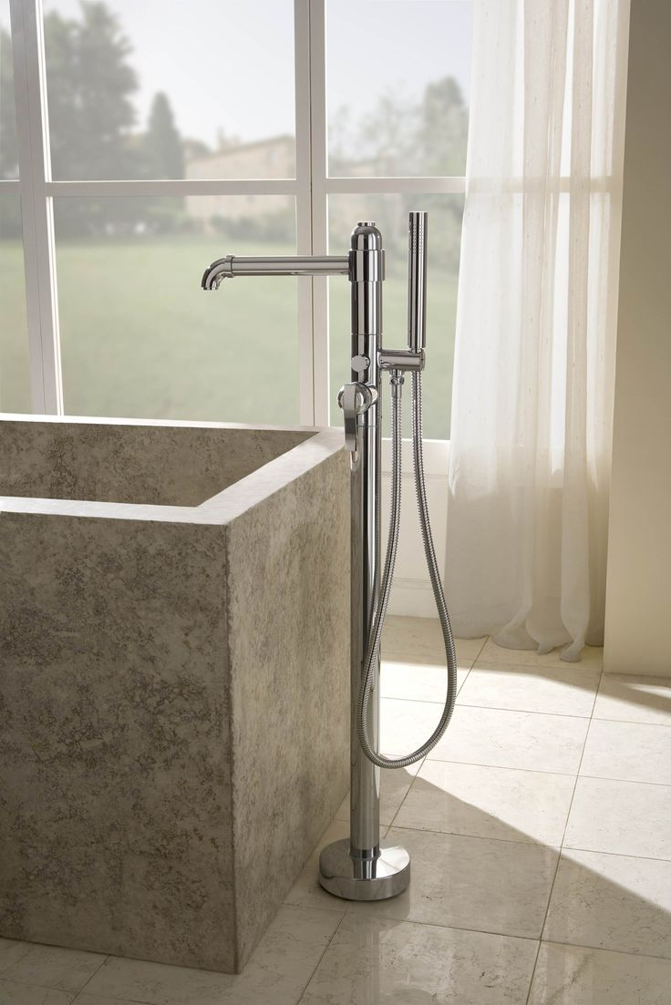 A Traditional Beauty, The Bali Floor Mounted Tub Filler Creates A Timeless  Elegance In