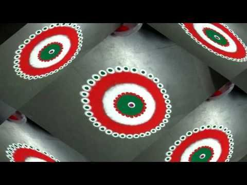 how to make nice indian flag coiour in rangoli design created by latest rangoli - YouTube