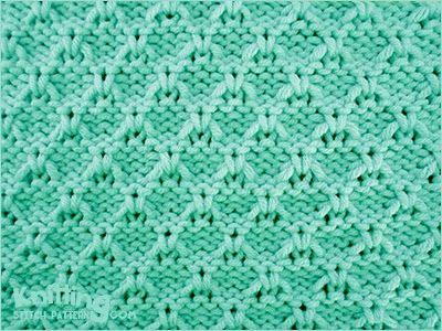 Textured stitch pattern   |  Flight Of The Bumblebee stitch
