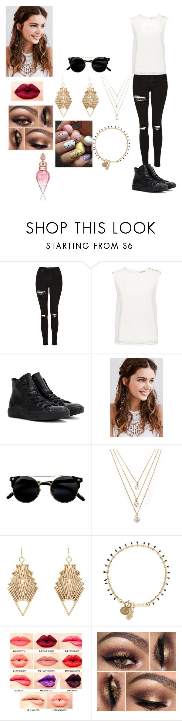 """Laura's outfit for day in Montevideo, Uruguay"" by onedirectionforever1297 on Polyvore featuring Topshop, Finders Keepers, Converse, REGALROSE, Forever 21, Charlotte Russe, Isabel Marant and NYX"