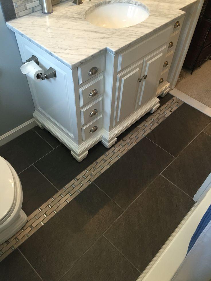 Galvano charcoal floor tiles in the bathroom 12x24 for 12x24 porcelain floor tile