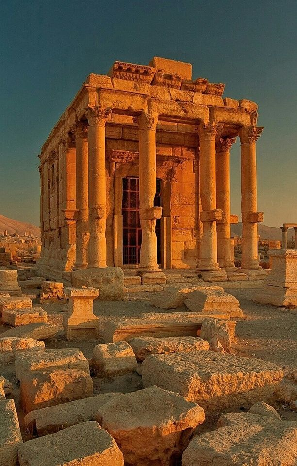 July 2006 Temple of Baal-Shamin Temple of Baal-Shamin, the Lord of the Heavens in Semitic pantheon, responsible for rain and fecundity. Temple was dated ca. AD 17 and its cella dated AD 130. It was completelly restored in 1954-6 by Swiss archeologists.