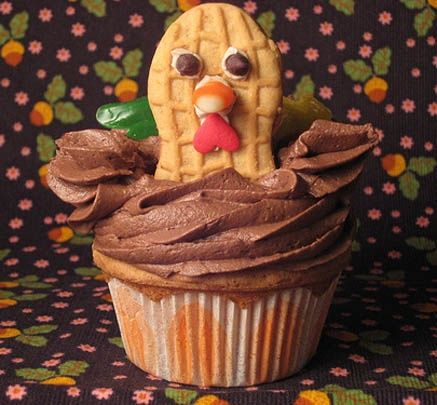 Thanksgiving Turkey cupcake...too cute!