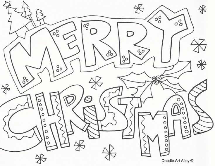 merry christmas coloring pages to download and print for free - Xmas Coloring Pages