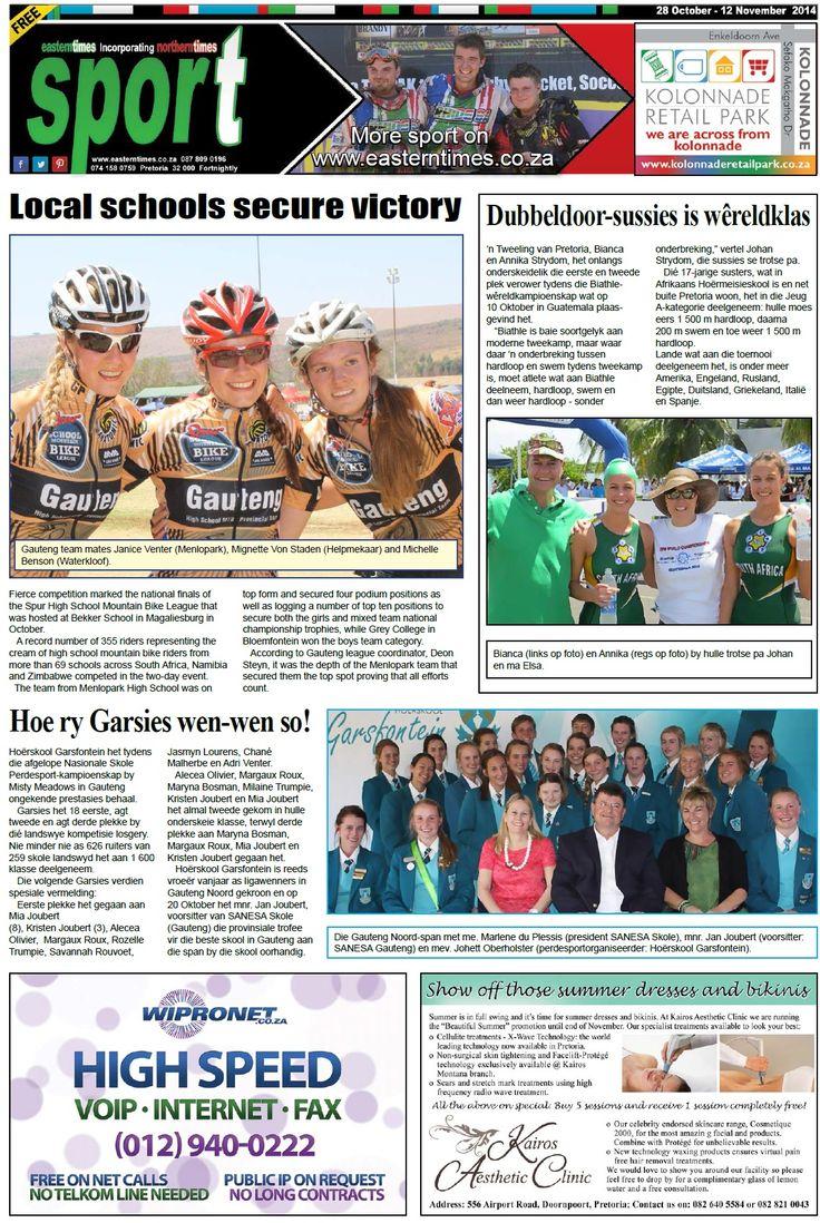 sport page 28 October - 12 November