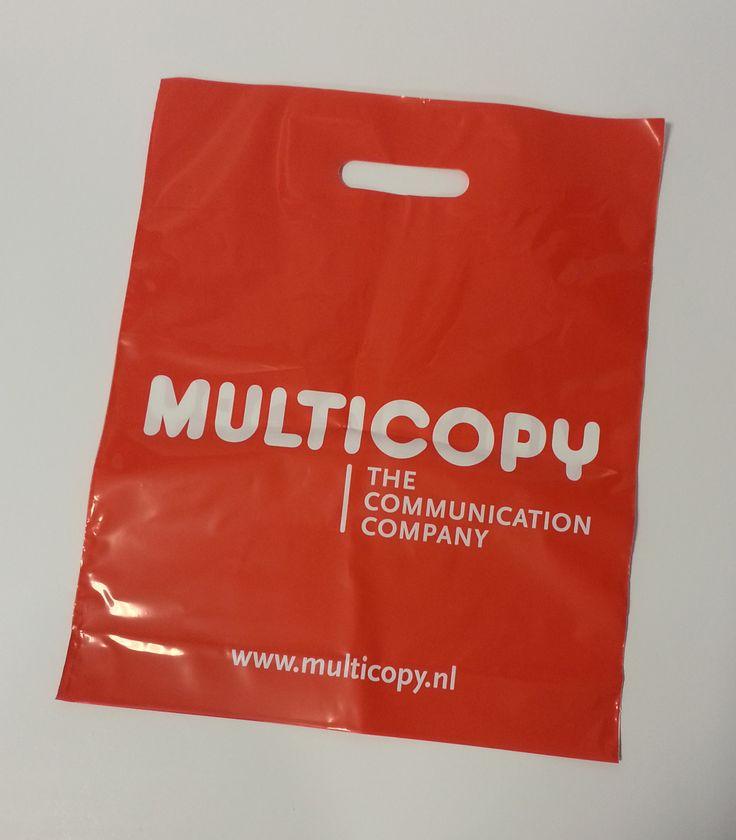 Plastic tasje met opdruk, met uw logo of leuke afbeelding.