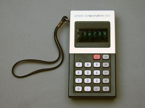 Vintage 1970s REMINGTON SPERRY calculator Green led display