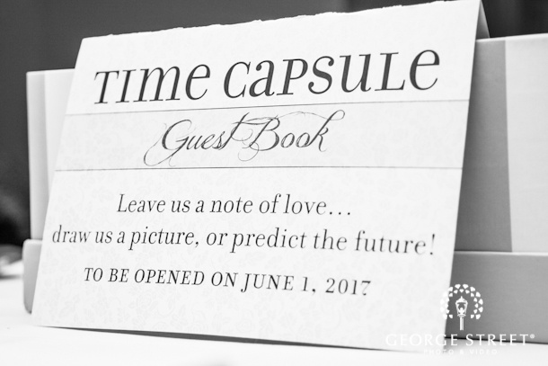 "time capsule guest book! ""to be opened on June 1, 2017""  