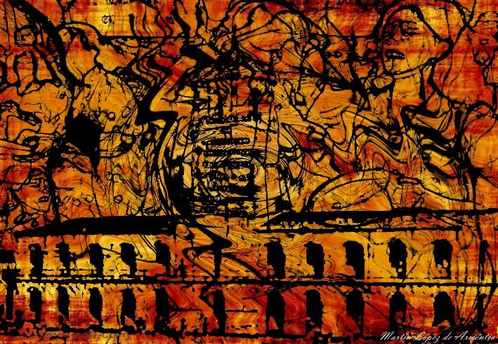 Título: 1810  Técnica: Dibujo - Fotomontaje  Dimensiones: Ancho 25cm - Alto 17cm  Año de realización: 2011