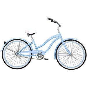 "26"" Micargi Rover GX Women's Beach Cruiser Bike, Baby Blue--I want a crusier bike with a large seat!"