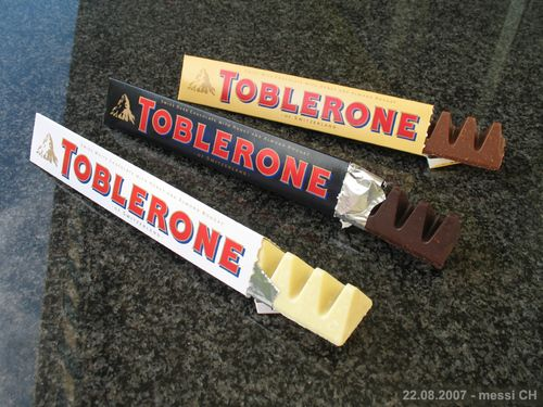 Toblerone chocolate comes in 3 different flavors, and it is a famous brand of chocolate, and you can see that beside my name on the top right corner, you can see this picture, and it is so yummy this chocolate.