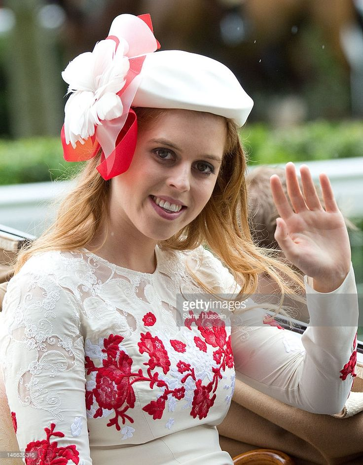 Princess Beatrice arrives by carriage on Ladies Day of Royal Ascot 2012 at Ascot Racecourse on June 21, 2012 in Ascot, United Kingdom. (Photo by Samir Hussein/WireImage)