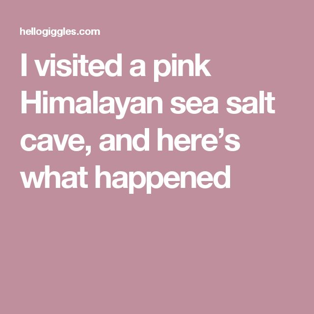 I visited a pink Himalayan sea salt cave, and here's what happened