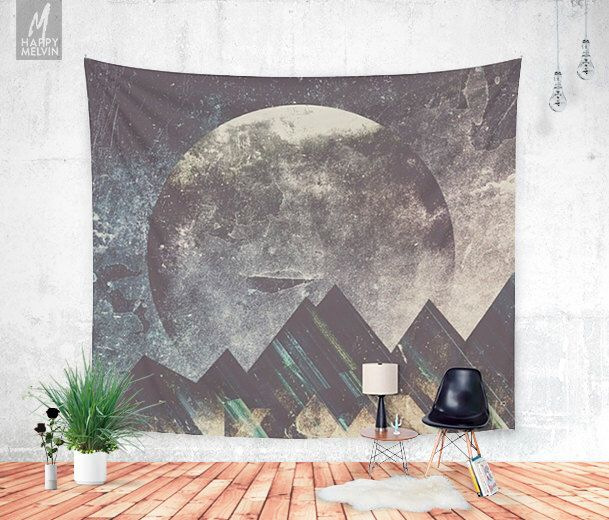 Sweet dreams mountain - Wall tapestry - Tapestry - Boho - Wall hanging - Mountain tapestry - Wanderlust - Nature - Bohemian - 3 sizes by HappyMelvin on Etsy https://www.etsy.com/listing/449480924/sweet-dreams-mountain-wall-tapestry