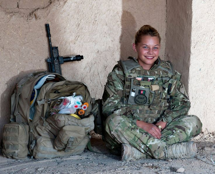 female combat medic - Bethany Gilford, an Army medic from York